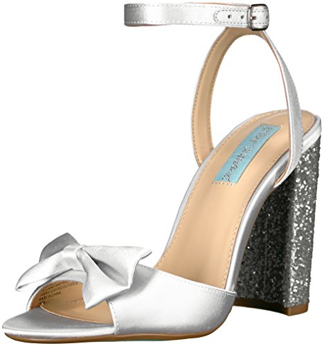 Blue by Betsey Johnson Women's Sb-Lyla Dress Sandal, Ivory Satin, 7 M US Betsey Johnson Satin Heels