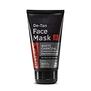 Ustraa De-Tan Face Mask – Oily Skin – 125 g – Tan & Pollution removing wash-off face mask for men, with highest grade…