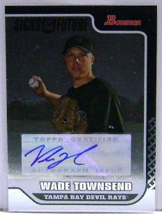 2006 Bowman Autograph Auto - 2006 Bowman Signs of the Future #WT Wade Townsend Autograph Auto RC Rookie Card
