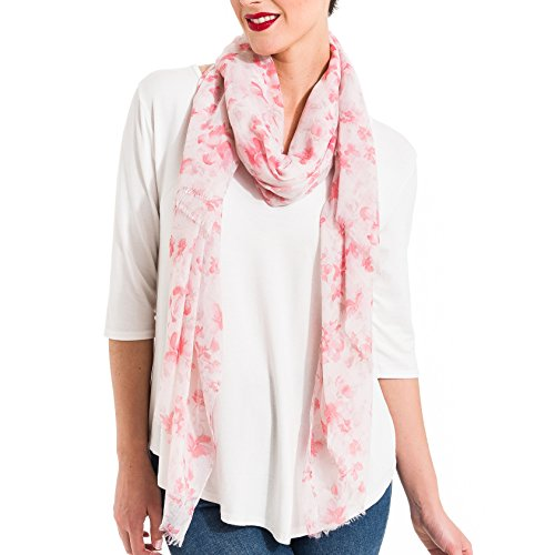 Scarf for Women Lightweight Floral Flower Fashion Fall Winter Scarves Shawl Wraps by Melifluos (SS17)
