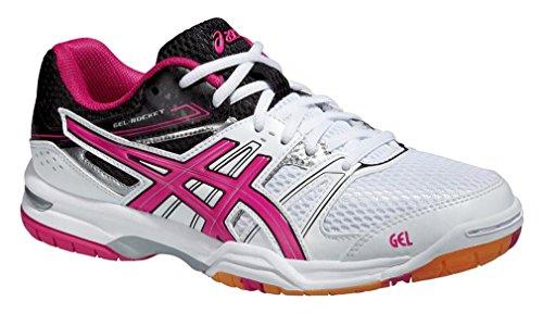 ASICS Gel-Rocket 7 - Zapatillas de Voleibol para mujer WHITE / MAGENTA / BLACK