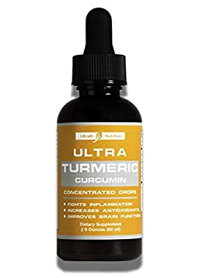 Organic Turmeric Curcumin Concentrated Drops with Bioperine black pepper fruit extract