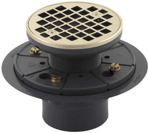 Kohler K-9135-AF Round Design Tile-In Shower Drain, Vibrant French Gold - French Gold Drain Finish