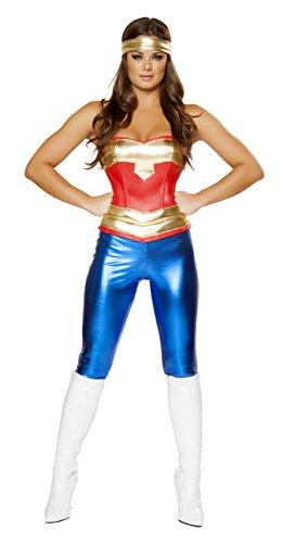 Comic Strip Costume (Sexy Women's 3pc Wonder Woman Comic Cutie Costume (S))