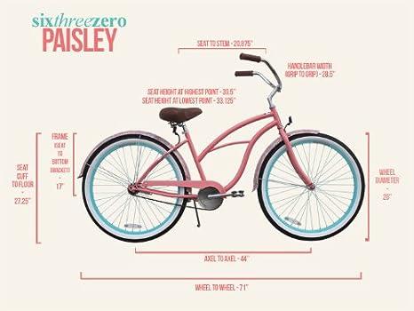 sixthreezero - Bicicleta de Playa para Mujer, Ruedas de 26 ...