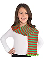 Amscan Holiday Christmas Elf Scarf, Child, One Size