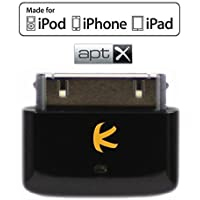 KOKKIA i10s + aptX (Luxurious Black) Tiny Bluetooth iPod Transmitter for iPod/iPhone/iPad with Apple authentication, delivers cleaner audio with reduced latency to aptX Bluetooth stereo receivers.