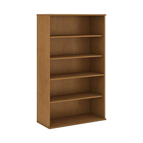Natural Bookcase Finish - Bush Business Furniture BK6636NC 5 Shelf Bookcase, 66