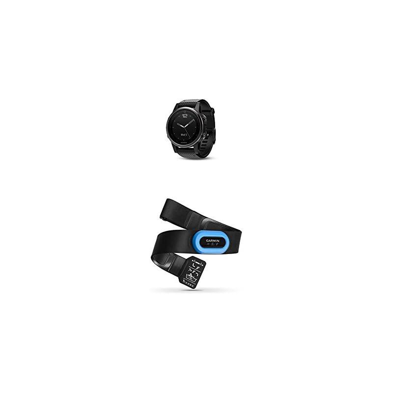 Garmin Fenix 5S Sapphire - Black with Black Band and Bike Speed Sensor and Cadence Sensor