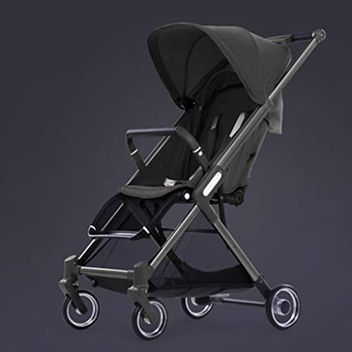 - Summer Stroller, Sun Protection Foldable Visible Sunroof Pram, Large Storage Basket Baby Carriage YEC-529 (Color : Black)
