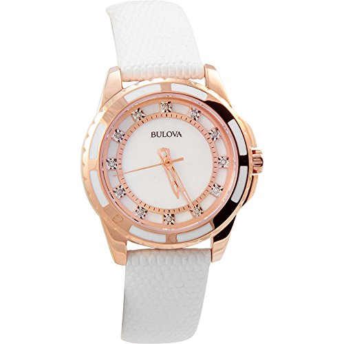 bulova-womens-98p119-stainless-steel-diamond-accented-quartz-watch-with-leather-band
