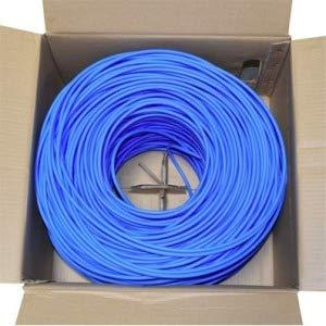 PREMIERTEK 1000FT CAT5E CMP Plenum BULK24AWG 4PR UTP Cable Blue
