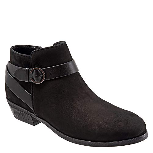 Raven Black Nubuck Softwalk Women's Ankle Boot 5wxwn1UIq4