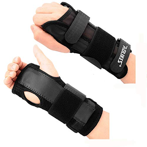 Removable Splint (Citoor Adjustable Wrist Support Brace Removable Splint for Carpal Tunnel Arthritis Sprains Strains Night Right and Left Hand 1 Pair)