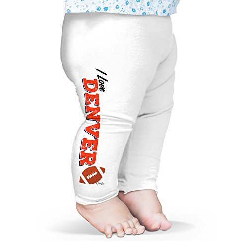 Twisted Envy Baby I Love Denver American Football Leggings Trousers 12 - 18 Months White