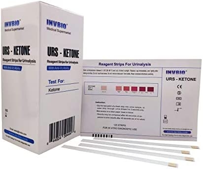 125ct - INVBIO Urine Ketone Test Strips for Testing Ketosis, Home Ketone Test Strips, Accuracy and Precision Urinalysis Strips for Low Carb Dieters Who Have No Diabetes or Have Diet 3