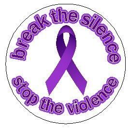amazon com domestic violence awareness magnet purple ribbon anti
