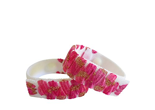 Acupressure Anti Nausea Bracelets (pair) Pink (medium/average adult) (Pink Root Beer)
