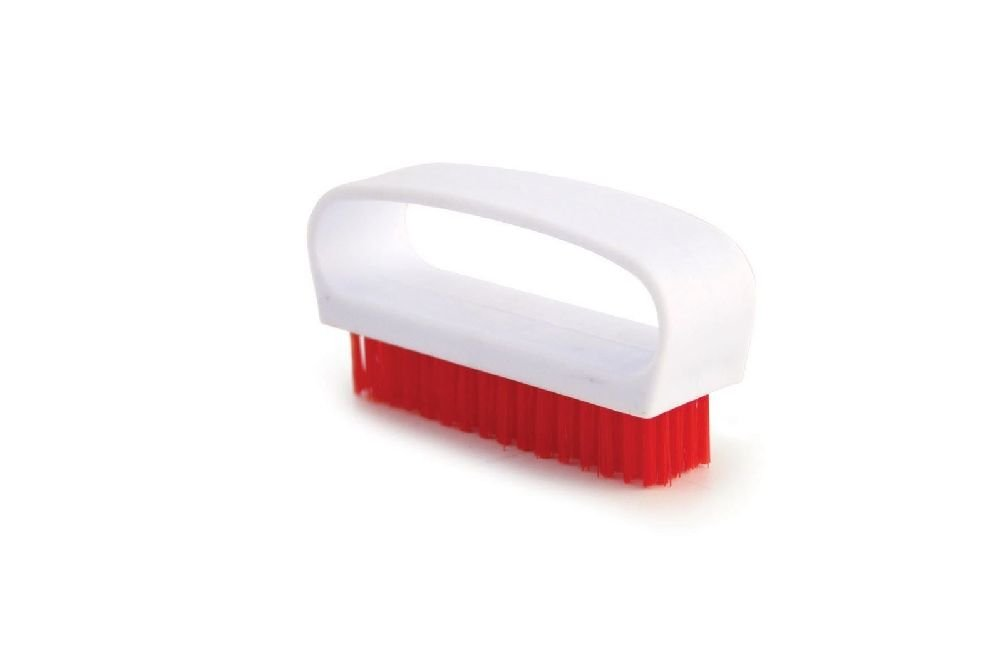 Likimen Home Colour Coded Food Hygiene Nail Scrubbing Brush Plastic Cleaning Nail Brush Red