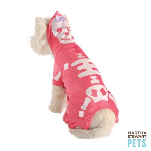 Martha Stewart Pets Glitter Skeleton Dog Costume SMALL