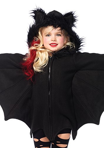 Leg Avenue's Girl's Cozy Bat Zipper Dress Costume, Black, Medium ()