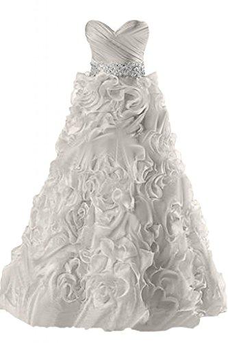 sera abiti Ruffles elegante Gowns da Sunvary Pageant Silver Sweetheart IYqxwp