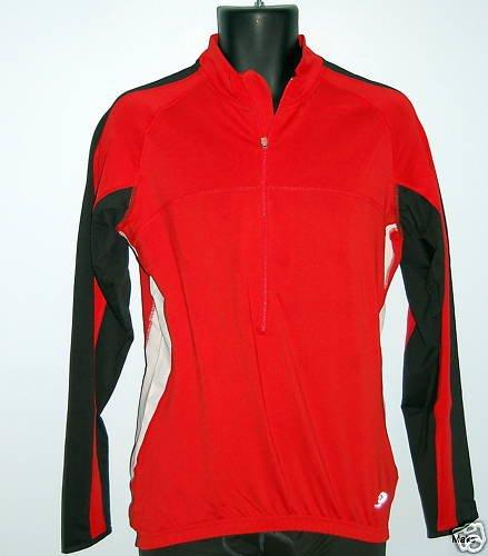 - Men's Crane Bike TopCool Long Sleeved Cycling Shirt Jersey (X-Large, Red)