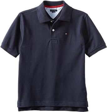 Tommy Hilfiger Big Boys' Short Sleeve Ivy Polo Shirt,Masters Navy,Small(8)