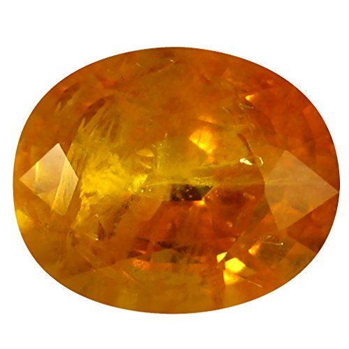 8x6mm Oval Ceylon Sapphire - 2.20 ct PGTL Certified Oval Shape (8 x 6 mm) Ceylon Orange Yellow Sapphire Natural Gemstone