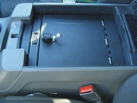 Console Vault Gun Safe for 2000-2006 Ford Expedition w/ Barrel Key Lock