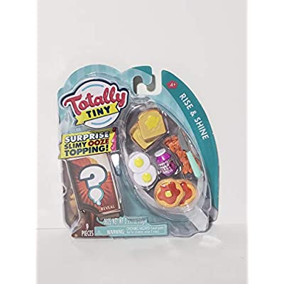 Totally Tiny Deluxe Food Set of 3 Meals - Rise and Shine, Taco Time and Pizza Party - Each Meal Has Surprise OOZE Toppings!: Toys & Games
