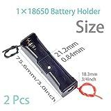 QTEATAK 8 Pack 18650 Battery Holder Bundle with