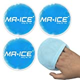 Reusable Gel Ice Pack for Hot Cold Therapy with Soft Smooth Bag, Heating Cooling Pad for Tired Eyes, Breastfeeding, Wisdom Teeth, Kids Injuries, First Aid - Round 3 Pack