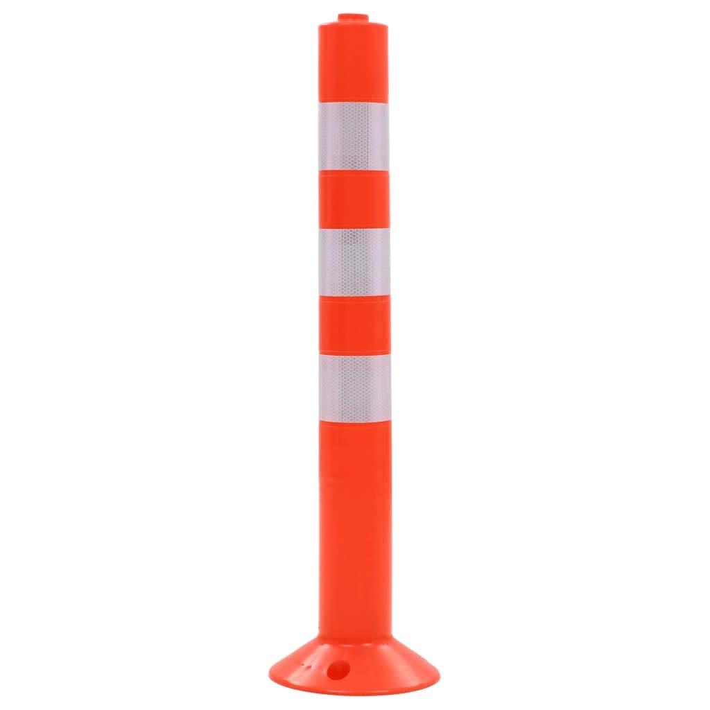 vidaXL 5x Bolardos de Control de Tr/áfico Pl/ástico 75 cm Se/ñales Advertencia
