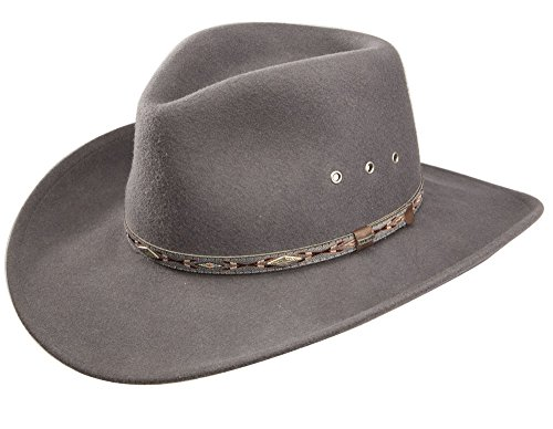 f808f2fec41 Amazon.com  Stetson Elk Horn Wool Cowboy Hat  Clothing