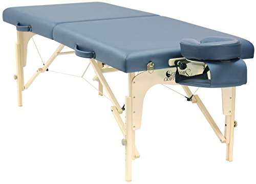 Custom Craftworks Simplicity Massage Table with PU Cushions, Agate Blue by Custom Craftworks