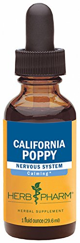 Herb Pharm Certified Organic California Poppy Extract for Calming Nervous System Support - 1 Ounce