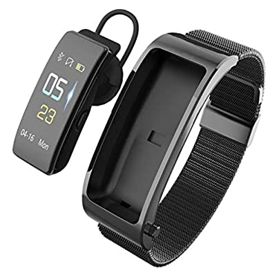 HFXLH Bluetooth Earphone Fitness Bracelet Track Smart Wristband Smart Voice Blood Pressure Heart Rate Monitoring Smart Estimated Price £63.78 -
