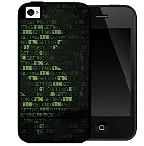 Green and Black Money Sign with Words Intertwined and Black Background 2-Piece Dual Layer High Impact Black Silicone Cell Phone Case Cover iPhone i5 5s by Maris's Diary
