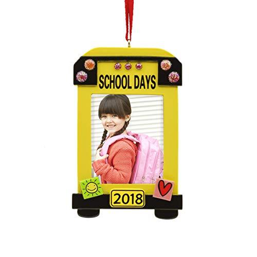 - Hallmark School Bus 2018 Picture Frame Ornament Milestones