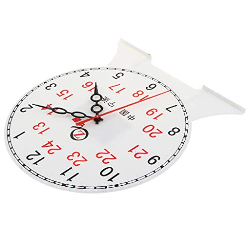 Fityle Kids Children's Teaching Time Clock Learn to Tell The Time Classoom Supplies - 24 Hour Clock