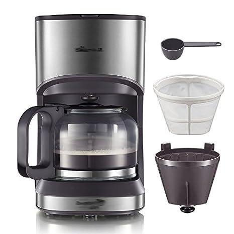 GCCI Máquina de Café Americano Casa Goteo Automático Peque?o Café Cafetera,marrón: Amazon.es: Hogar