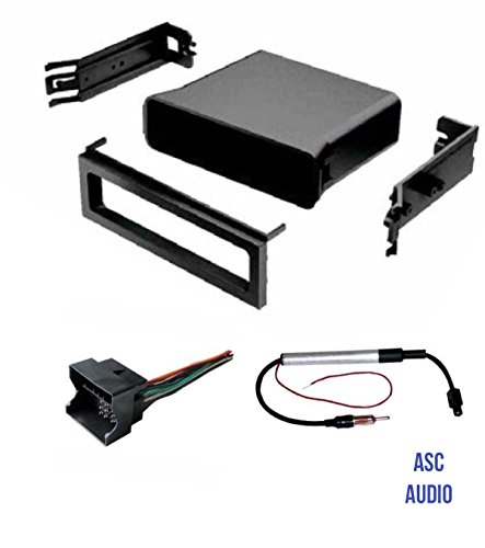 ASC Audio Car Stereo Dash Pocket Kit, Wire Harness, and Antenna Adapter for installing a Single Din Radio for select VW Volkswagen- See compatible Vehicles and info below