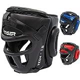 TMA Head Gear Protector Guard Wrestling Helmet Boxing MMA UFC Headgear Sparring (Black, S/M)