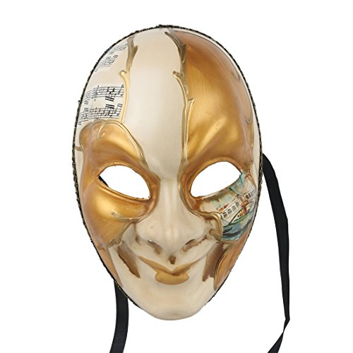(YUFENG Full Musica Venetian Mask Mardi Gras Mask Halloween Costume Gorgeous Mask for)