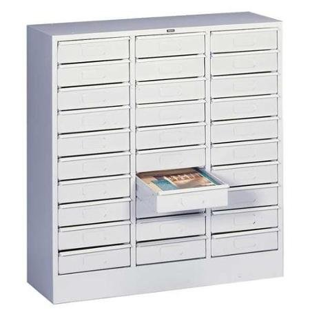 Lit Organizer, Horizontal, LTR, 30 Drawer, Lt Gray ()