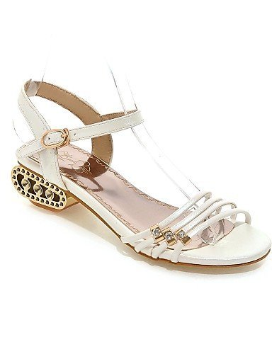 ShangYi Womens Shoes Chunky Heel Open Toe Sandals Casual Pink / Purple / White / Gold Pink