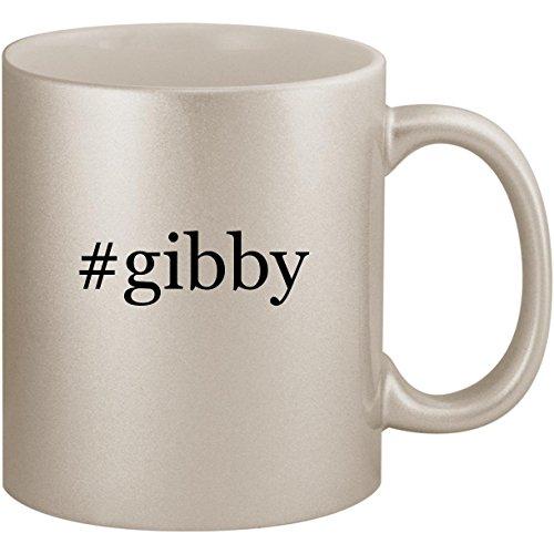 #gibby - 11oz Ceramic Coffee Mug Cup, Silver