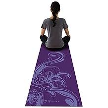 Gaiam 5MM Printed Premium Yoga Mat-Deep Plum Surf/Volutes BLEUTÉES