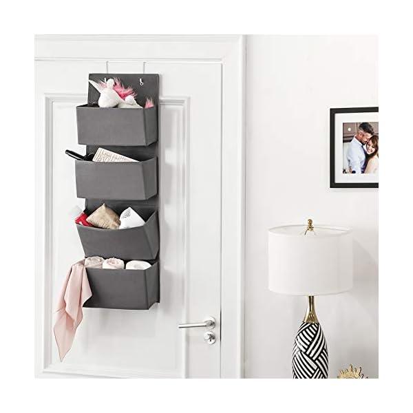 41IsR SqtmL SONGMICS Hängender Organizer mit 4 Taschen, Hängeaufbewahrung für die Tür, für Schlafzimmer, Büro, Kinderzimmer, 33,5 x…